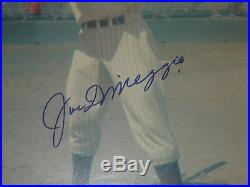 Joe Dimaggio Yankees Autographed Signed 11x14 Photo PSA/DNA Certified Authentic