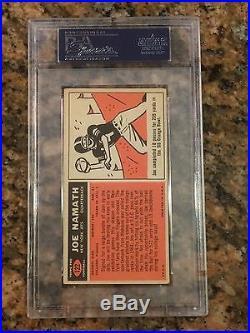 Joe Namath Rookie 1965 Topps #122 PSA DNA 9 Auto Autograph HOF Nice Card