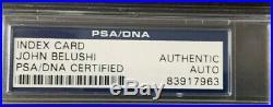 John Belushi 1977 autographed 3x5 card (PSA/DNA certified)