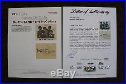 John Lennon & Paul McCartney THE BEATLES Signed 4.5x5.5 Photo AUTO PSA/DNA LOA