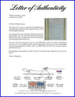 John Lennon Yoko Ono Signed Authentic Autographed Balance Sheet Beatles PSA/DNA