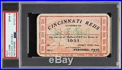Joseph Joe F Carr Signed Autograph NFL Pro Football HOF PSA/DNA Auto 1931 Reds