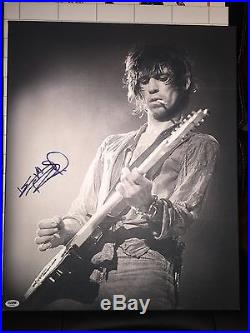KEITH RICHARDS SIGNED 16x20 CANVAS AUTOGRAPH THE ROLLING STONES Psa/DNA#AA01096