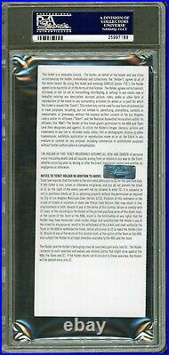 KOBE BRYANT Signed 60pt FINAL GAME Full Ticket PSA/DNA AUTO POP 18 Panini COA