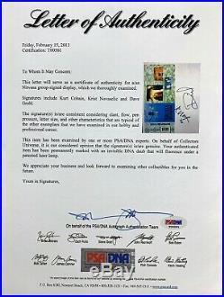 KURT COBAIN Autograph GROHL KRIST Nirvana Signed Nevermind Cassette PSA/DNA Auto