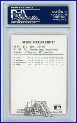 Ken Griffey Jr 1988 ProCards Autographed Auto Rookie RC Card PSA/DNA