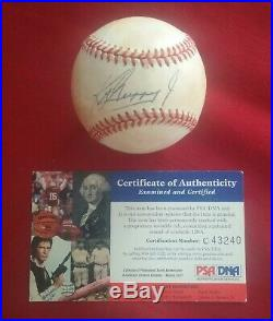 Ken Griffey Jr Signed Baseball Autographed Auto HOF with Old PSA DNA COA
