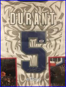 Kevin Durant Signed PSA DNA Jersey USA Authentic Rare Framed Auto Autograph