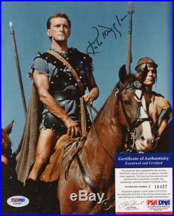 Kirk Douglas Signed Autographed Color Spartacus 8/10 Photo Rare Psa Dna