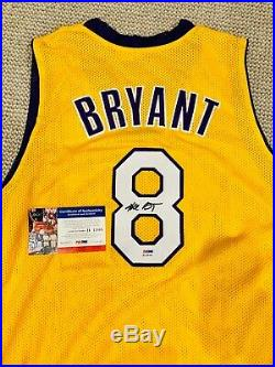 Kobe Bryant #8 Signed Autographed Los Angeles Lakers Jersey PSA/DNA Autograph