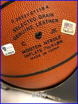 Kobe Bryant Autographed Finals Basketball2001 Double Authenticated PSADNA GLOBAL
