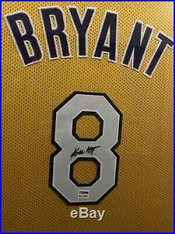 Kobe Bryant Autographed Jersey Framed Psa/dna Coa