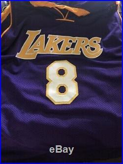 Kobe Bryant, Autographed Purple 8 Jersey PSA/DNA COA + DISPLAY PLAQUE