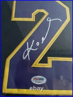 Kobe Bryant Autographed Signed Jersey PSA/DNA