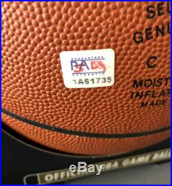 Kobe Bryant La Lakers Authentic Autographed Nba Game Basketball Big Psa/dna Coa