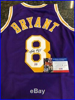 Kobe Bryant PSA/DNA Certified Autographed Full Name Jersey