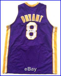 Kobe Bryant Signed Purple Lakers #8 rookie era Jersey BOLD Autograph PSA DNA COA