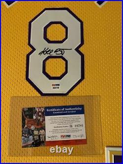Kobe Bryant Vintage 2001 Full Name Autographed Framed Nike Jersey PSA/DNA COA