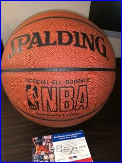 -Kobe Bryant autographed basketball PSA/DNA Sticker- ALL-Surface Ball B14886