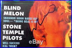 Kurt Cobain Grohl Novoselic Nirvana Signed Autographed Magazine PSA/DNA Circus