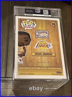 Lakers Magic Johnson Signed NBA #78 Funko Pop BAS PSA/DNA Encapsulated