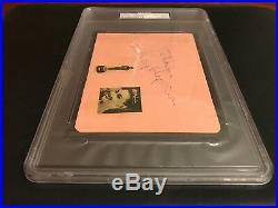 Large PSA/DNA & BAS Dual Authentic AUDREY HEPBURN Autograph Signed Pink Page