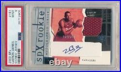 Lebron James 2003/04 Spx 151 Rc Rookie Autograph Jersey Auto Sp #/750 Psa 9 Mint
