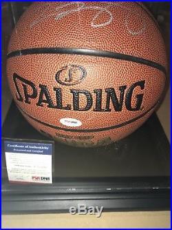 Lebron James Autographed Basketball COA PSA/DNA