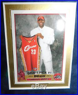 Lebron James Signed Autographed Framed Photo 2003 Topps Rc PSA DNA LOA