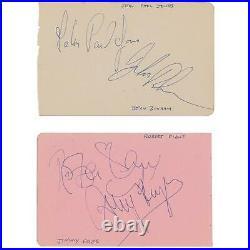 Led Zeppelin Autograph Book Pages Authentic Signed WithJohn Bonham 1970 Bath WithPSA