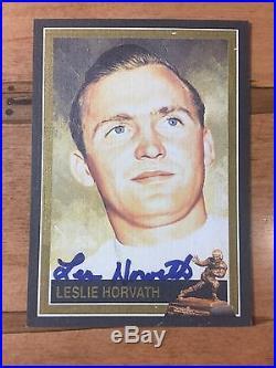 Les Horvath Signed Heisman Collection LINEN Autograph # /200 Very Tough PSA/DNA