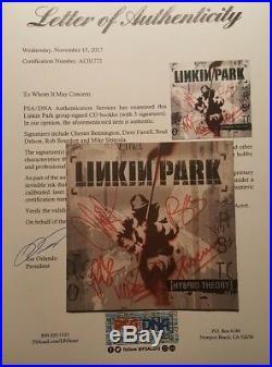 Linkin Park Chester Bennington Band Signed Autographed Hybrid Theory CD PSA/DNA