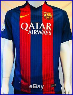 Lionel Leo Messi Signed Autographed Barcelona Nike Soccer Jersey PSA/DNA