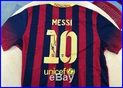 Lionel Messi Autographed Signed Nike Jersey Psa/dna Legit Fc Barcelona