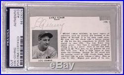 Lou Gehrig 1937 World Series Signed Autograph Cut Auto PSA/DNA Authenticated