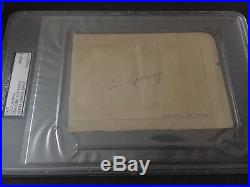 Lou Gehrig Signed Autographed 3x5 Cut PSA DNA Mint 9
