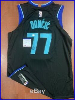 Luka Doncic signed jersey PSA/DNA Dallas Mavericks Autographed NBA ROY MVP RARE