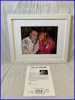 MAC MILLER ARIANA GRANDE SIGNED AUTOGRAPHED 11x14 PHOTO PSA/DNA COA FRAMED RARE