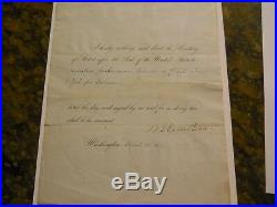 MARTIN VAN BUREN SIGNED 1840 DOCUMENT PSA/DNA LOA 8th PRESIDENT AUTHENTIC AUTO