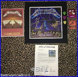 METALLICA signed autographed LP record album James Lars Kirk CLIFF PSA DNA RARE