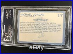 MICHAEL JORDAN 1989 COCA COLA NORTH CAROLINA'S FINEST Autographed PSA/DNA
