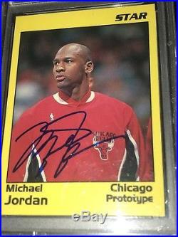 MICHAEL JORDAN PSA/DNA AUTO 1991 Star Co Prototype Autograph Signed Rare