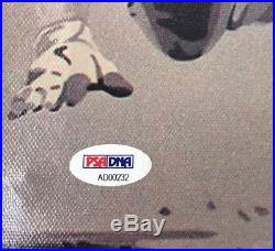 MIKE TROUT SIGNED CANVAS 18x20 COA MLB ANGELS LARGE AUTOGRAPH COA LETTER PSA/DNA