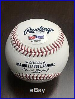 MIKE TROUT and CLAYTON KERSHAW 2014 MVPs Signed Autograph Auto Baseball PSA/DNA
