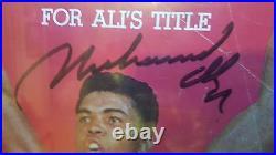 MUHAMMAD ALI / JOE FRAZIER Autographed Original PSA/DNA H51830