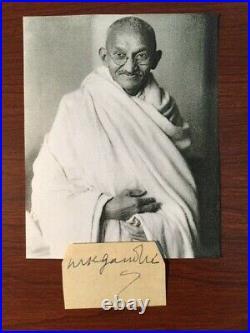 Mahatma Gandhi Signed Slip Indian Social Activist, Martin Luther King, Psa/dna