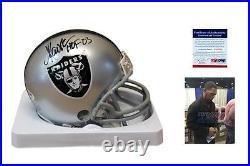 Marcus Allen SIGNED Oakland Raiders Mini Helmet PSA/DNA Autographed with HOF
