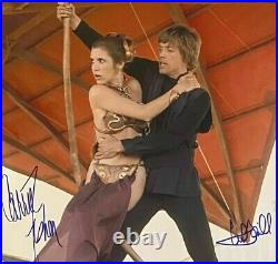 Mark Hamill & Carrie Fisher STAR WARS signed autographed Metallic 16x20 PSA/DNA