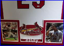 Mark McGwire Framed Jersey Signed PSA/DNA COA Autographed St Louis Cardinals