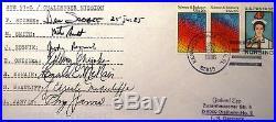 Mcauliff Smith Reznik Scobee McNair STS 51 L Challenger Crew Signed FDC PSA/DNA